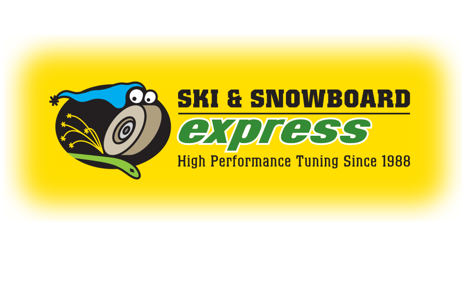 Logo for a ski-tuning shop in Richmond, Vermont (color scheme includes a yellow background).