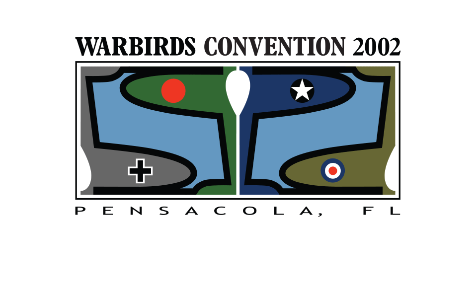 Logo for a convention of virtual pilots in an online, World War II aerial combat simulation.